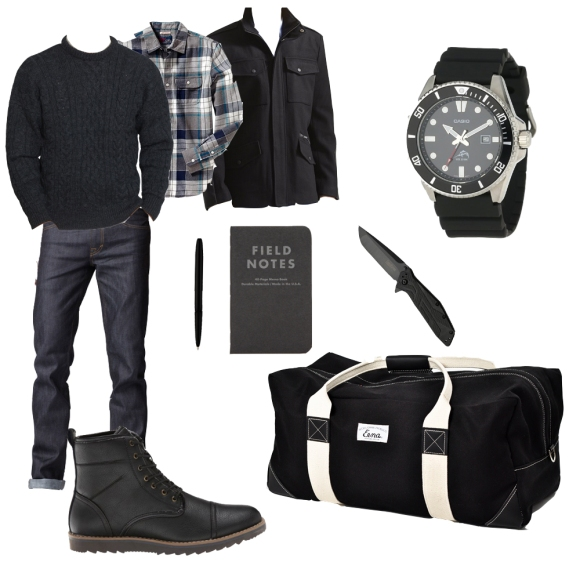 Black Winter Outfit Style Collage