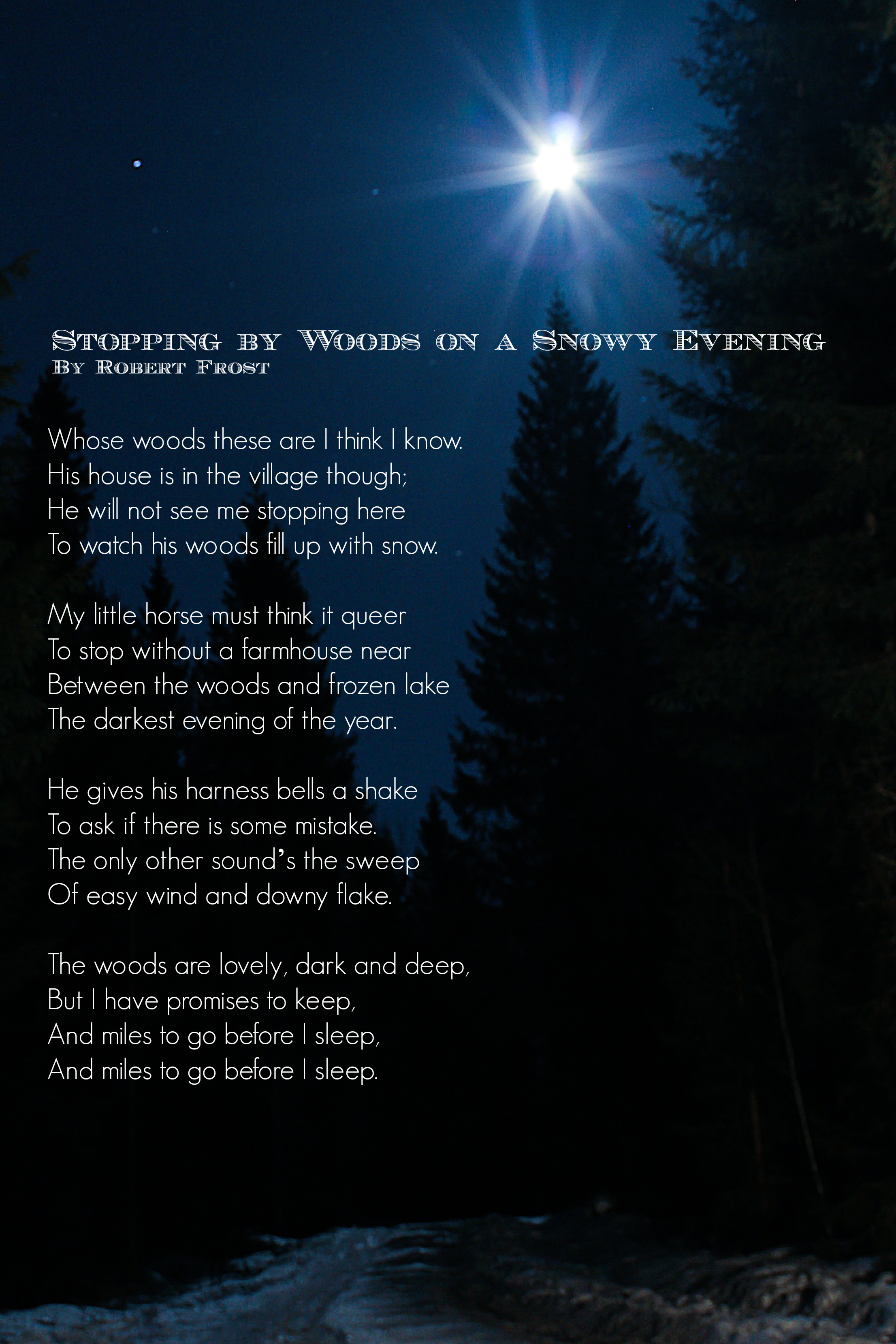 an analysis of stopping by the woods on a snowy evening by robert frost