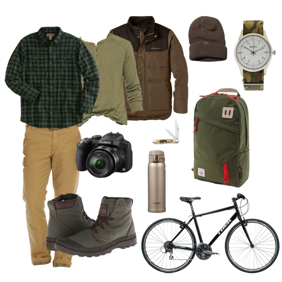 Mens style collage brown winter