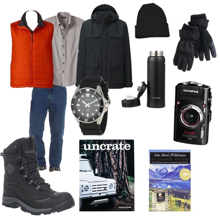 butch menswear winter style collage