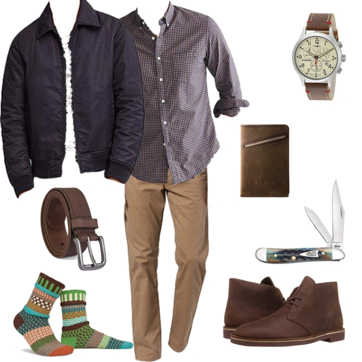 Casual style collage butch fashion