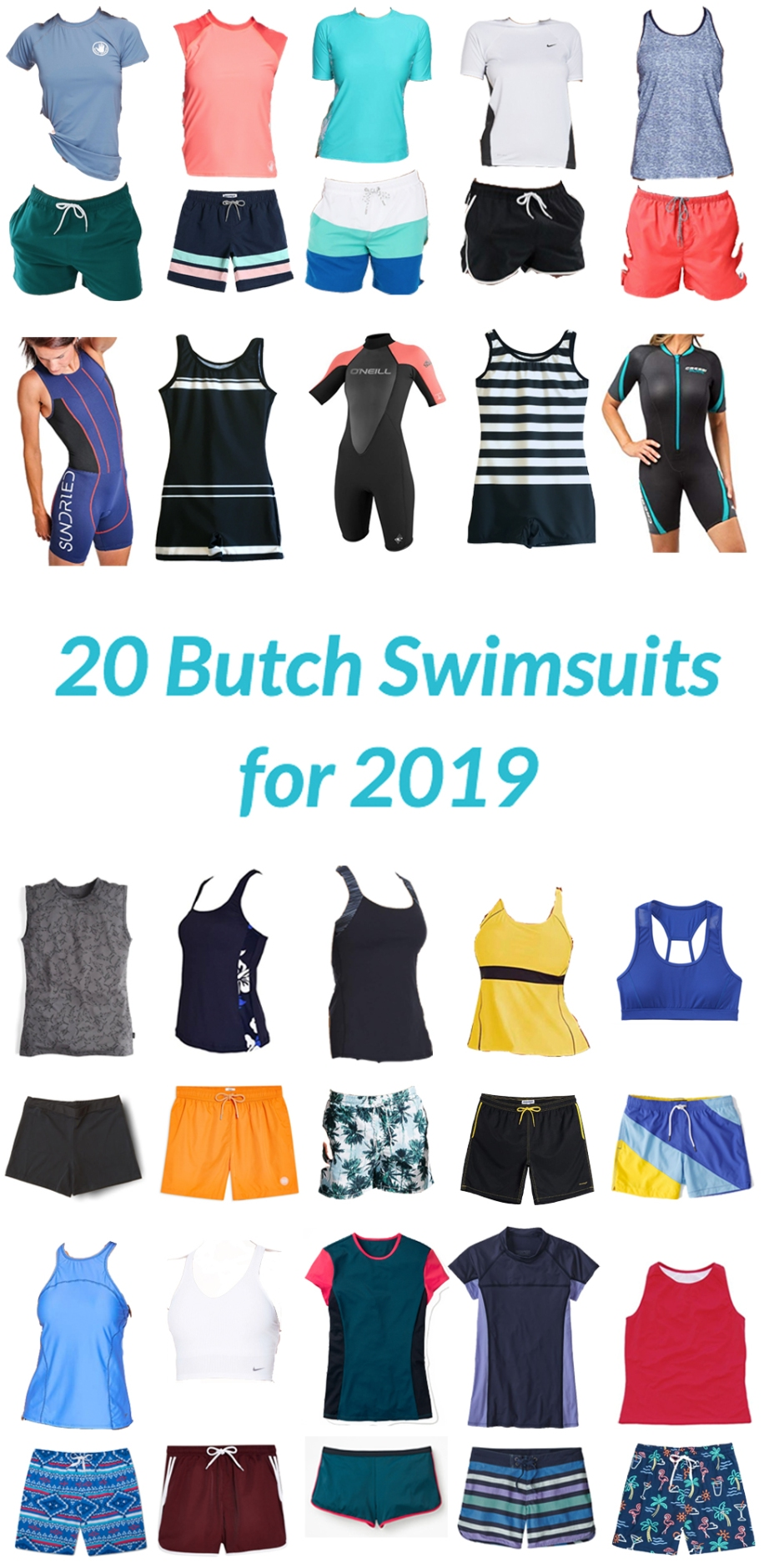 Butch swimsuits, butch swimwear