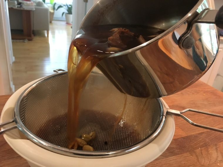 Steaming chai tea