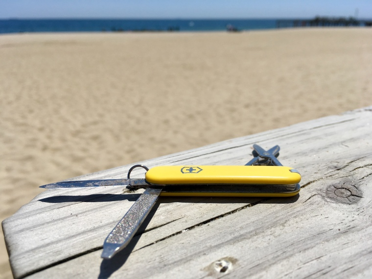 EDC Victorinox Swiss Army SD pocket knife yellow