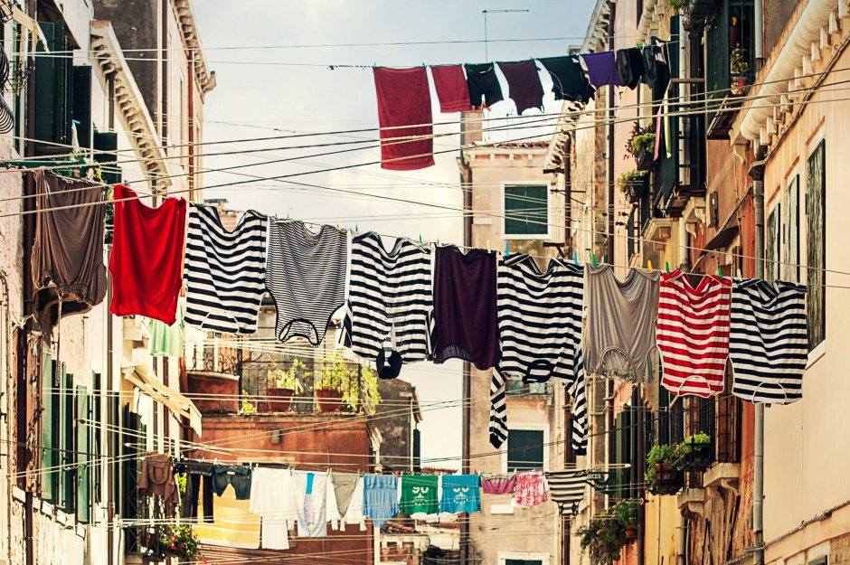 clothesline, laundry drying