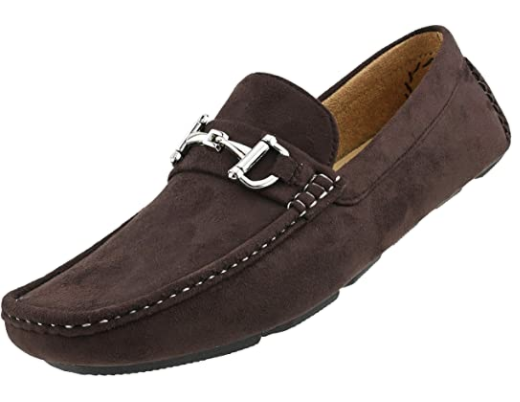 Bit driving loafer suede